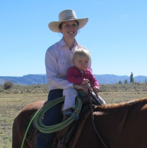 Myself and Grace at a roping in Owyhee last month.