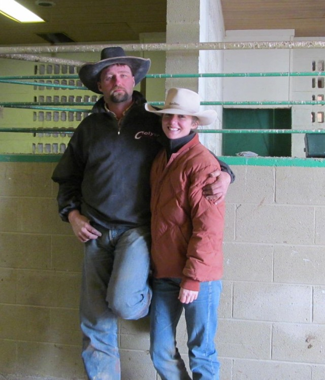 Me and Jim at the Horseshoe barn in 2012. I still wear the same hat. He doesn't. Side note: I don't think I've ever washed that coat. Totally off-topic. No idea why I wrote that. Sorry.