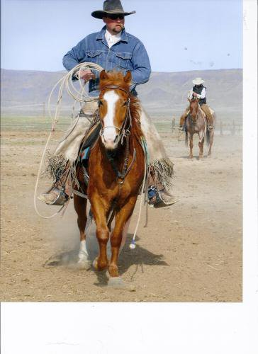"""I love this picture of my sexy cowboy out cowboyin' on a jam-up-cool cowboy horse. Did you like how I used all the forms of """"cowboy"""" right there? Those are the kinds of things I think about in my spare time. I need to get off the ranch more."""