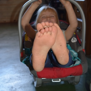 5-year-olds totally belong in infant car seats. Duh.